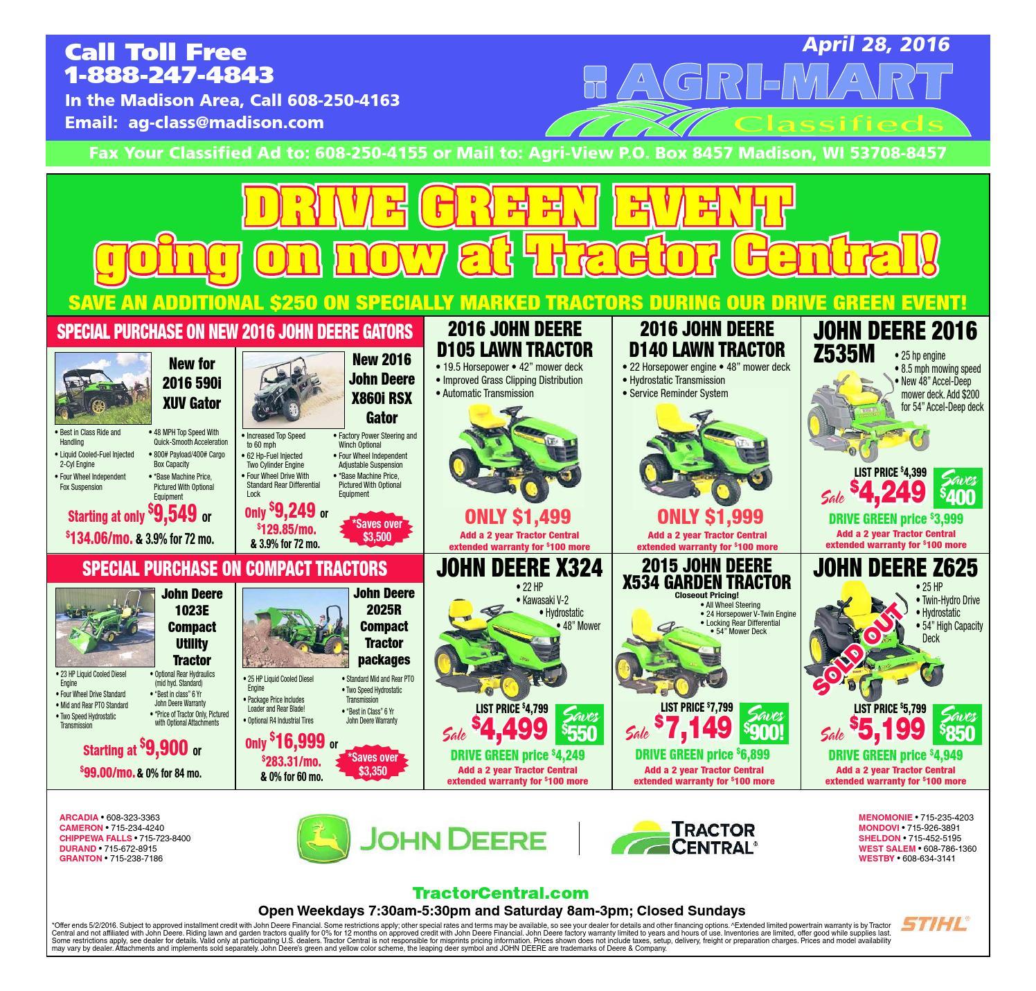 April 28 2016 Agri-Mart by Madison com - issuu