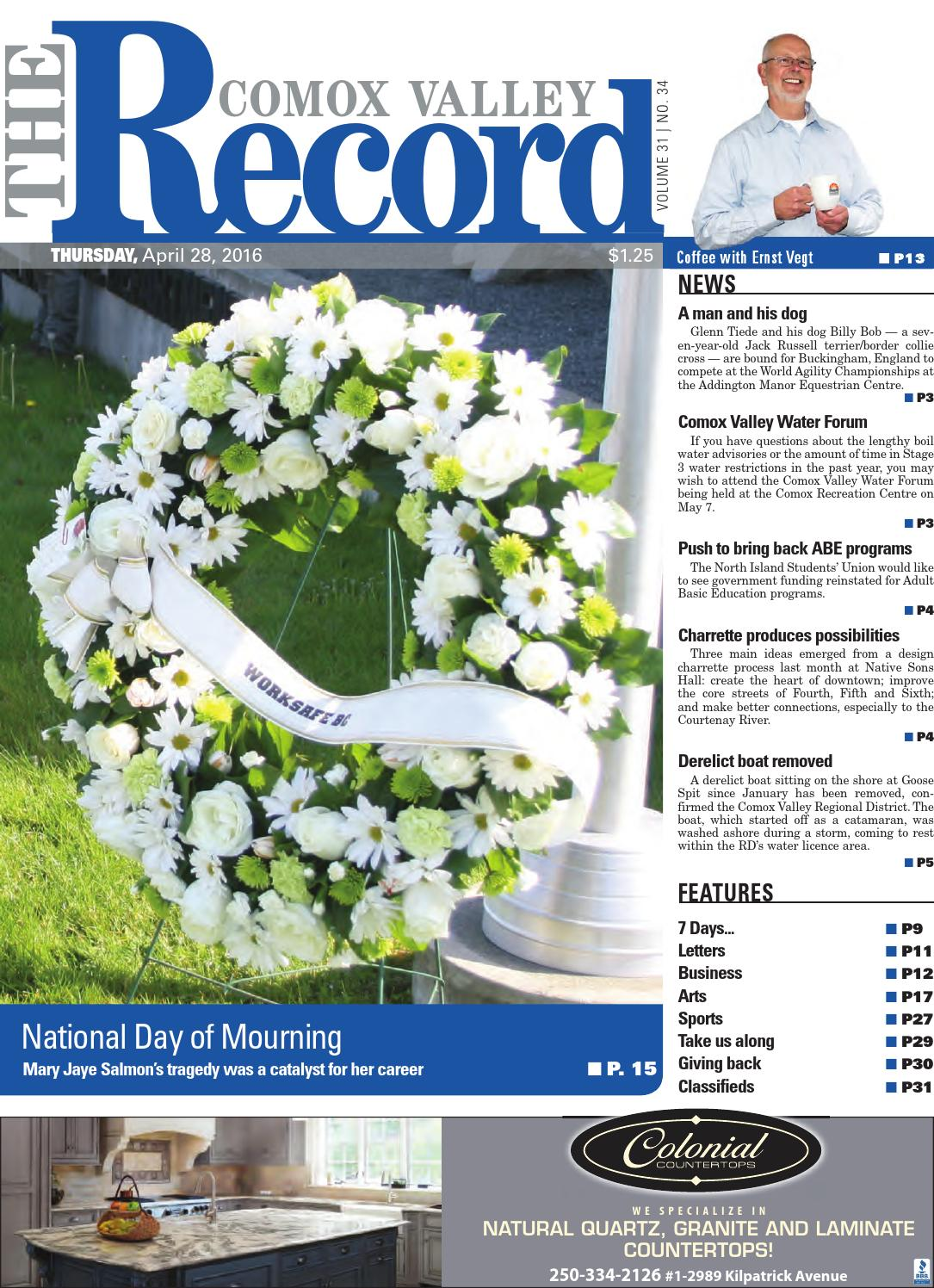 Comox Valley Record April 28 2016 By Black Press Issuu