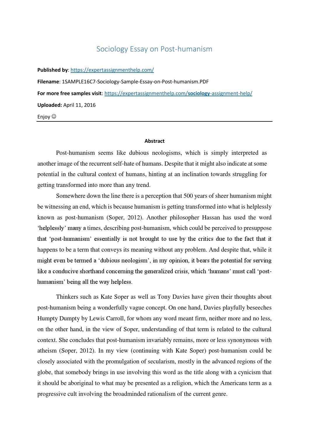 A society essay