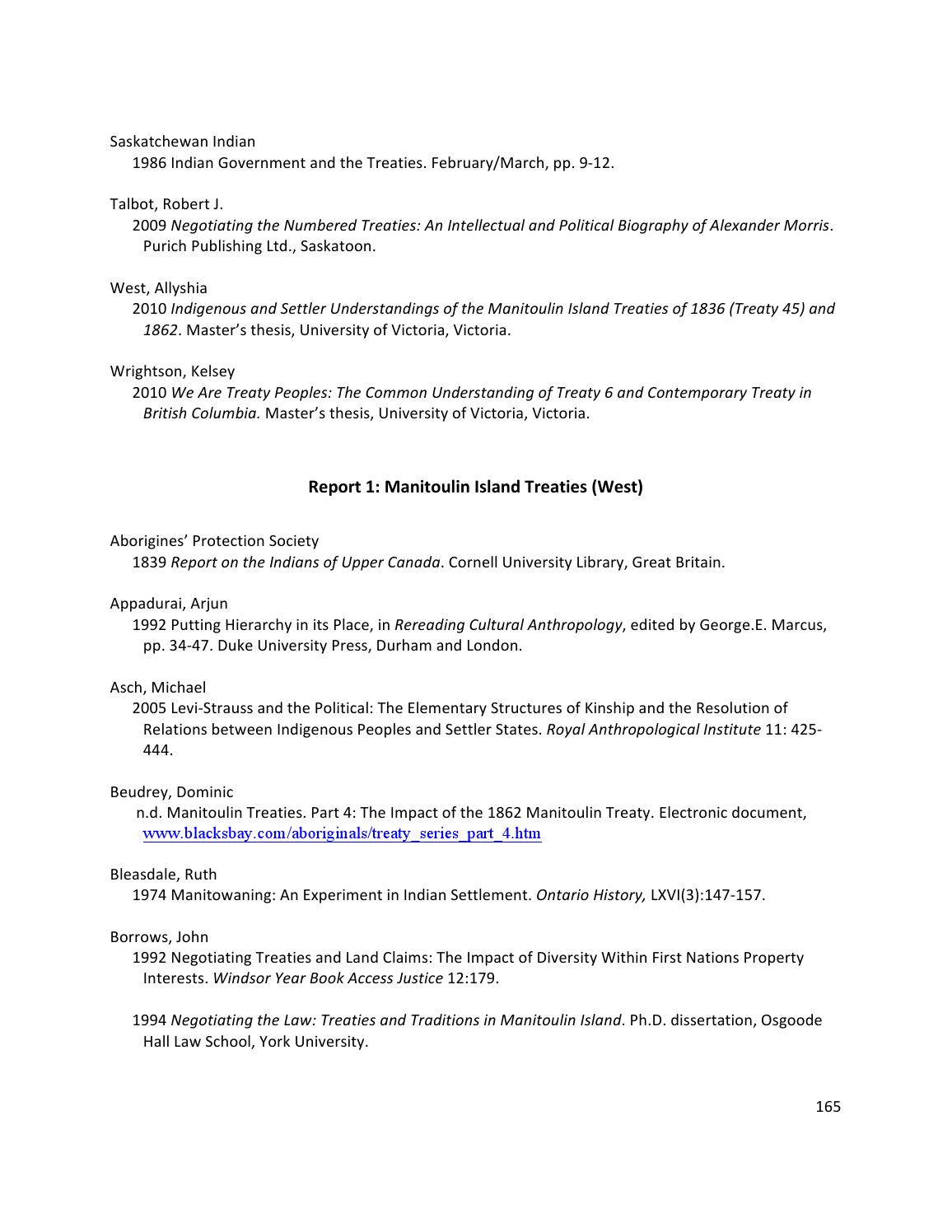 PROJECT REPORT: Treaty Relations as a Method of Resolving IP