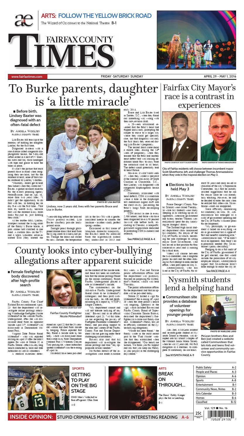 Fairfax County Times 04-29-16 by The Fairfax Times - Issuu