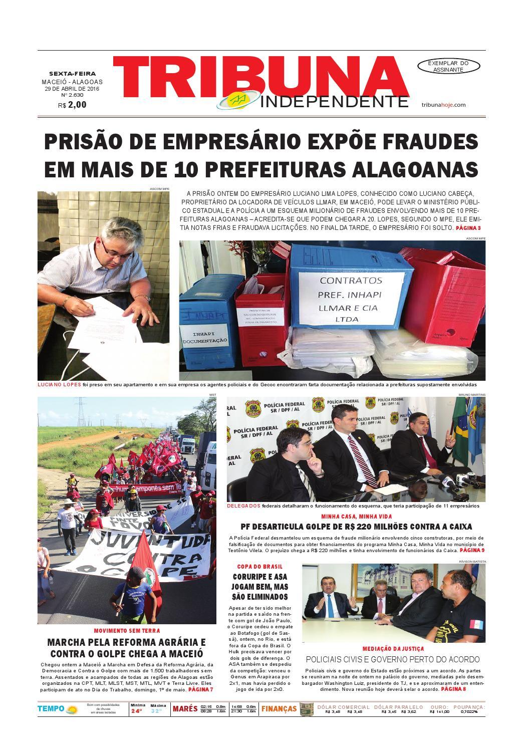 e71b57bf99b Edição número 2630 - 29 de abril de 2016 by Tribuna Hoje - issuu