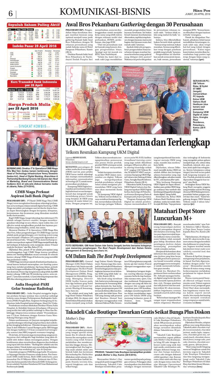 2016 04 29 By Riau Pos Issuu Produk Ukm Bumn Handbody