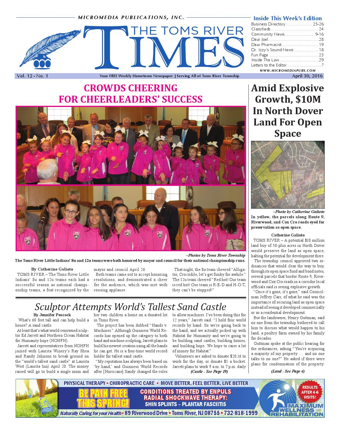 2016-04-30 - The Toms River Times by Micromedia Publications/Jersey Shore  Online - issuu