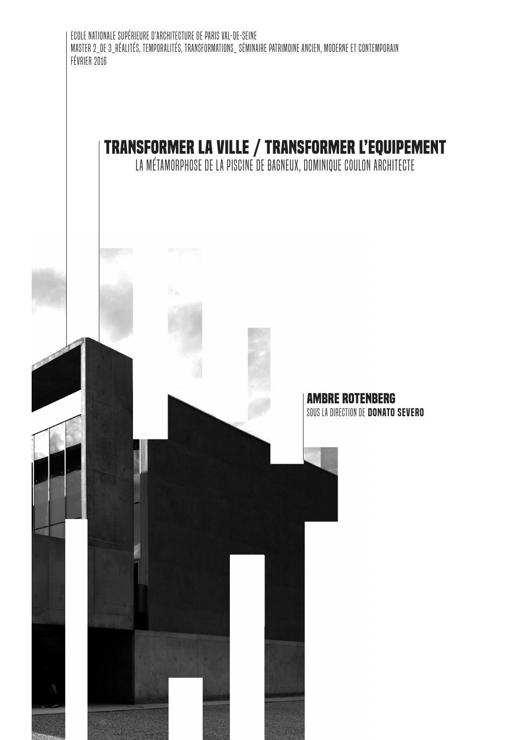 Ensa Paris Val De Seine mémoire d'architecture de master 2 ensa paris val-de-seine