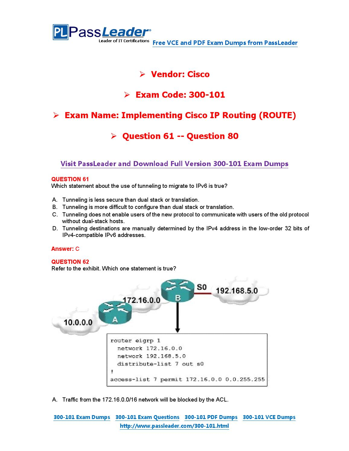 2016 new 300 101 exam dumps for free vce and pdf 61 80 by exam 2016 new 300 101 exam dumps for free vce and pdf 61 80 by exam dumps issuu xflitez Image collections