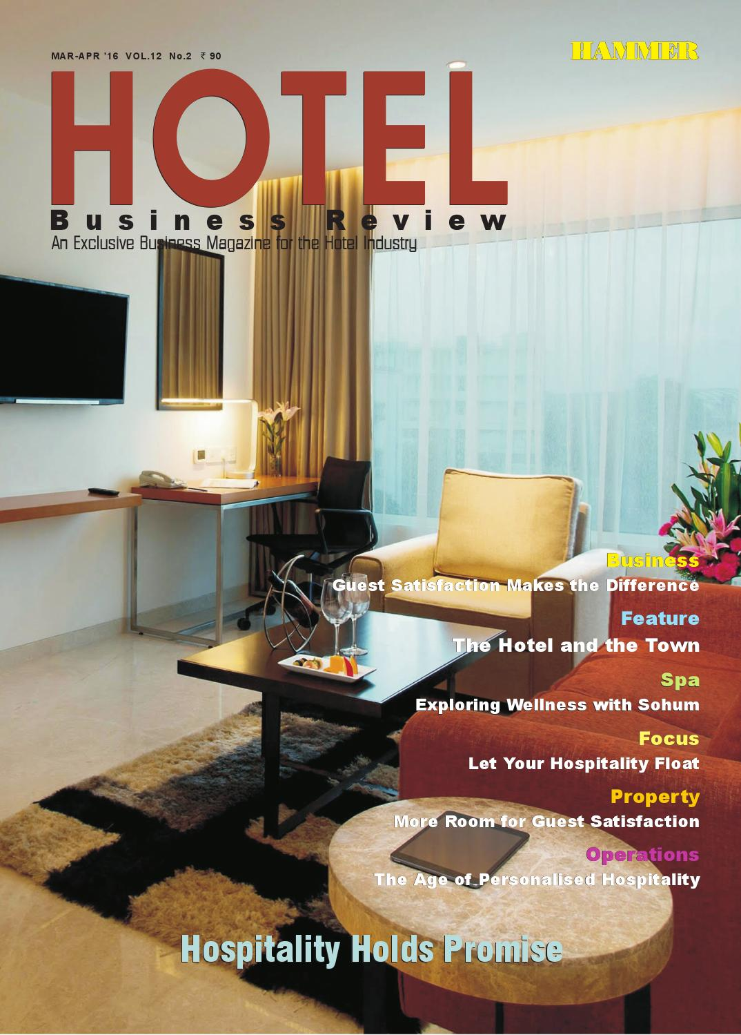 Hotel business review mar april 2016 by hammer publishers pvt ltd issuu