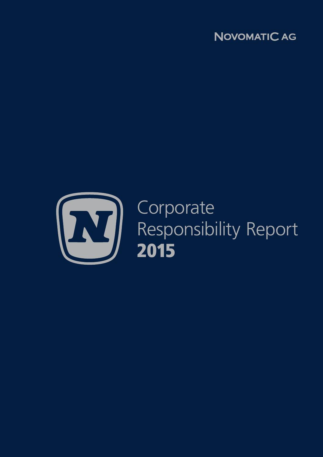 NOVOMATIC CR Bericht 2015 by NOVOMATIC Gaming Industries - issuu