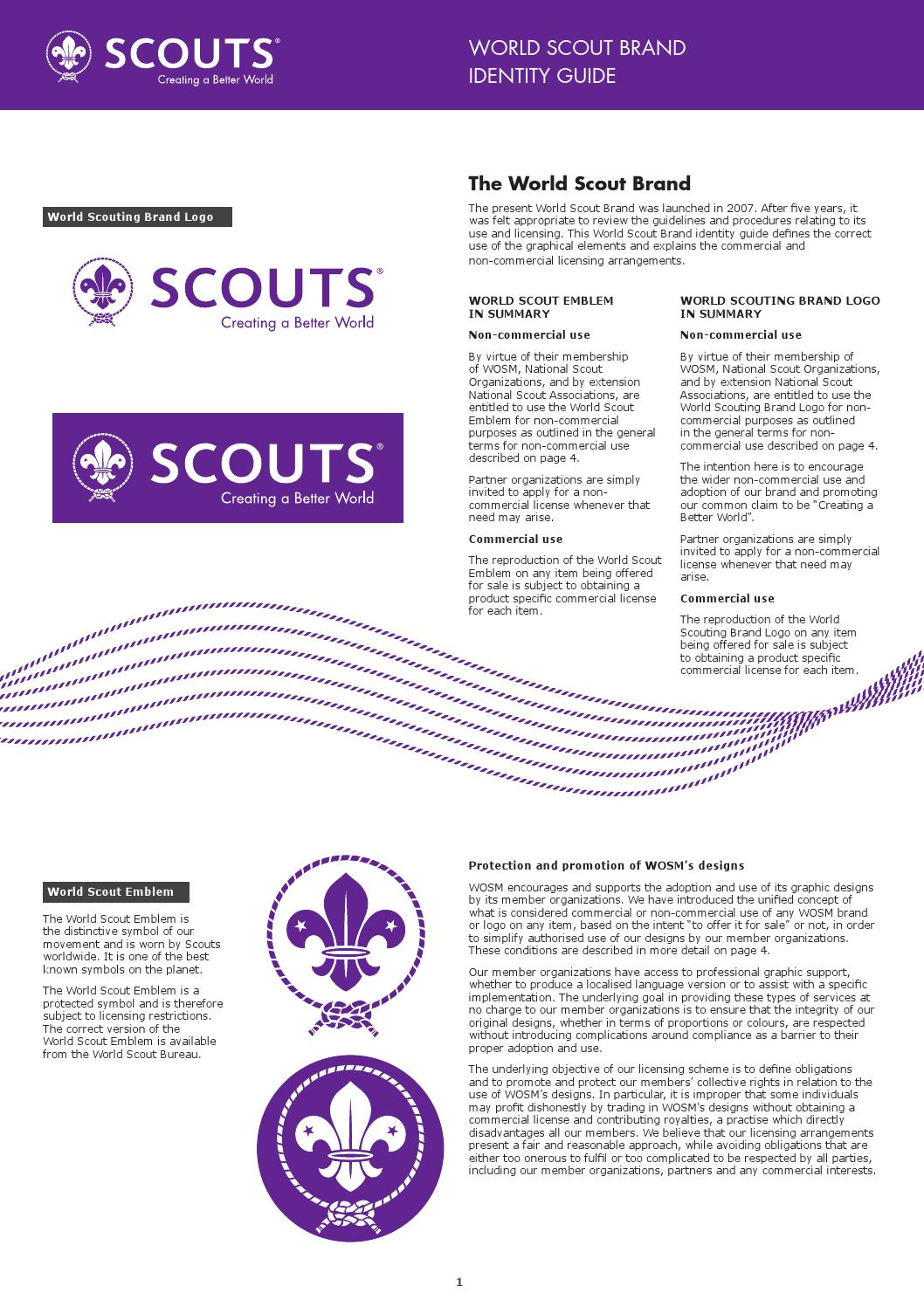 WORLD SCOUT BRAND IDENTITY GUIDE by World Organization of