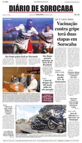 Edição de 29 de abril de 2016 by DIÁRIO DE SOROCABA - issuu 1b4e9ef30d752