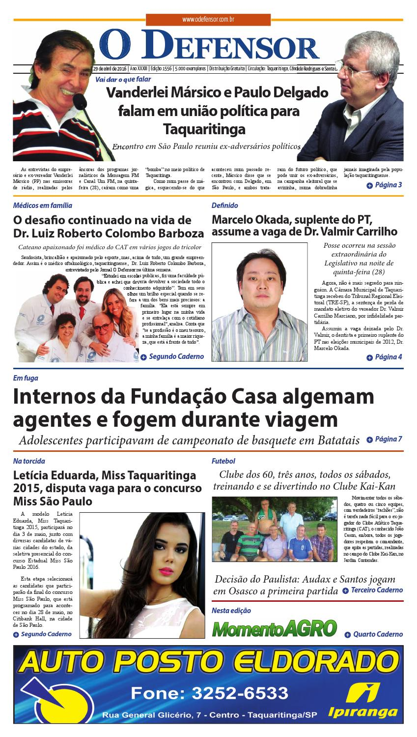 Jornal O Defensor 29 de abril de 2016 by gabriel baglioti - issuu e4212efed0892