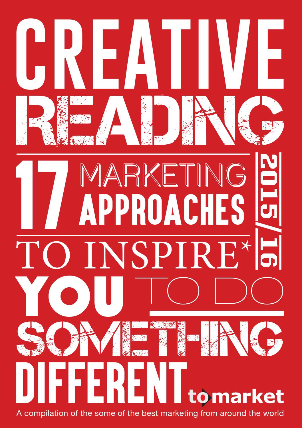 To Market - Creative Reading 2015/16 E-Book by To Market Times - issuu