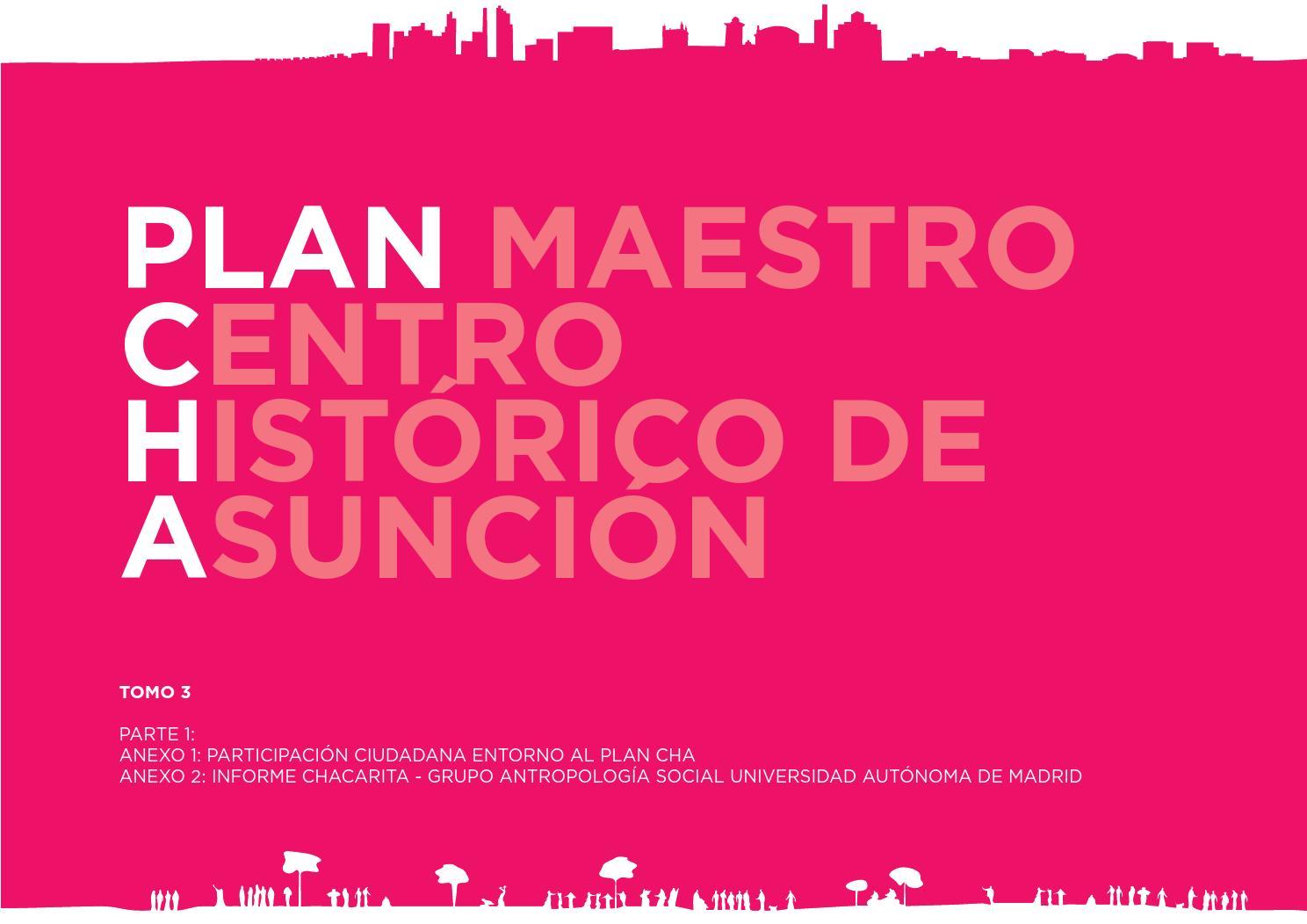 Plan maestro centro hist rico asunci n tomo 3 1 - Centro historico de madrid ...