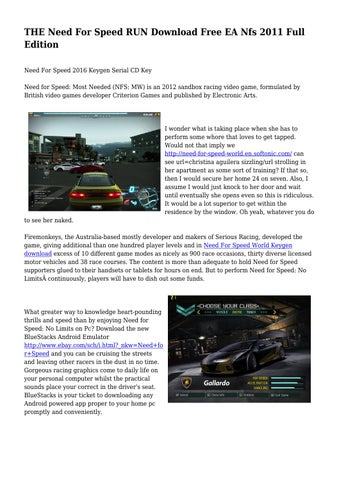 need for speed the run free download full version for android