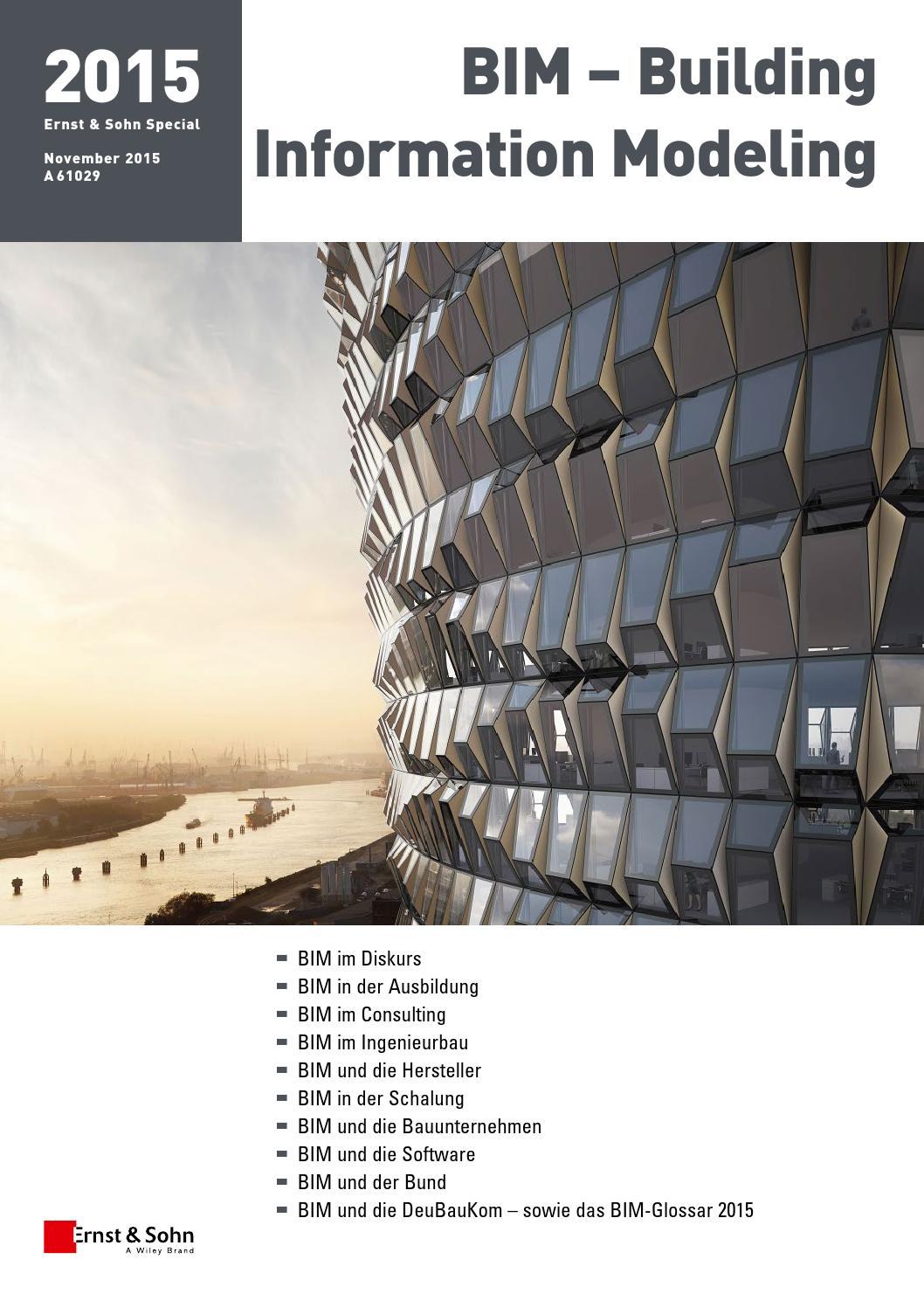 Ernst & Sohn Sonderheft BIM Building Information Modeling 2015 by ...