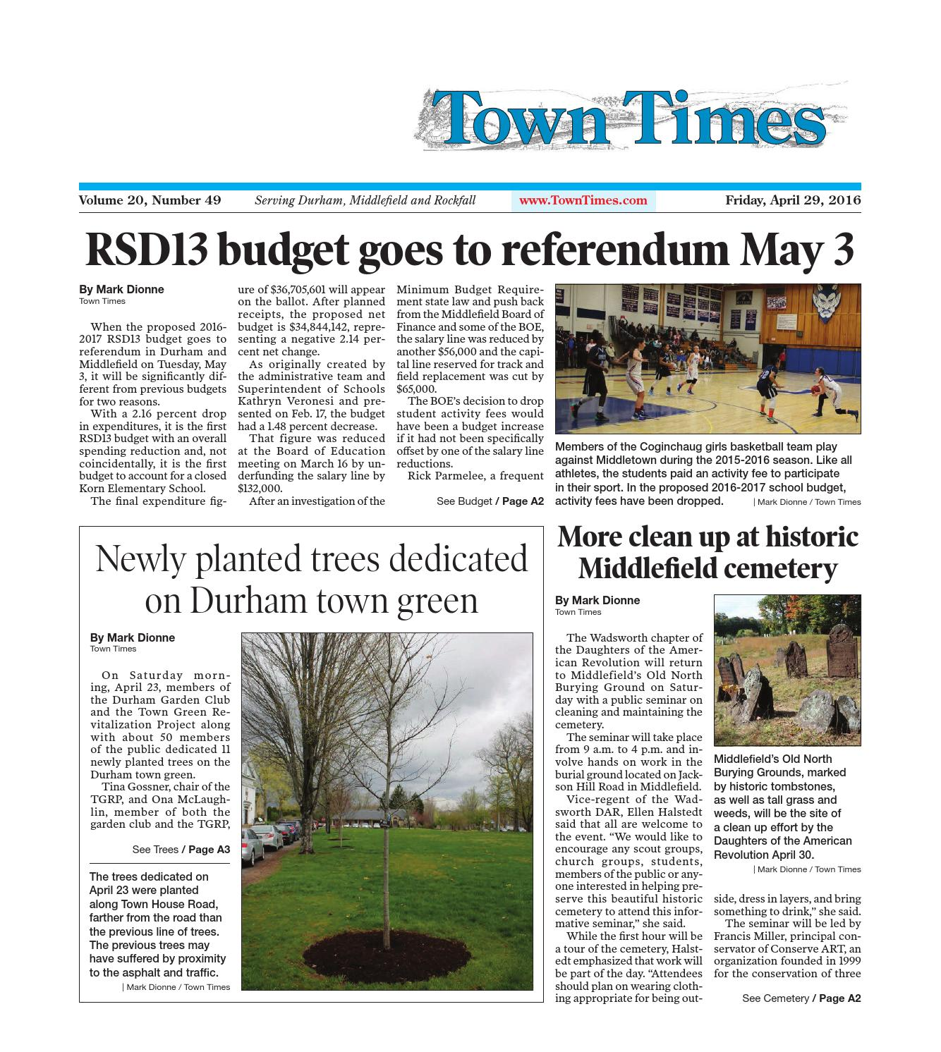 20160429towntimes by Town Times Newspaper - issuu