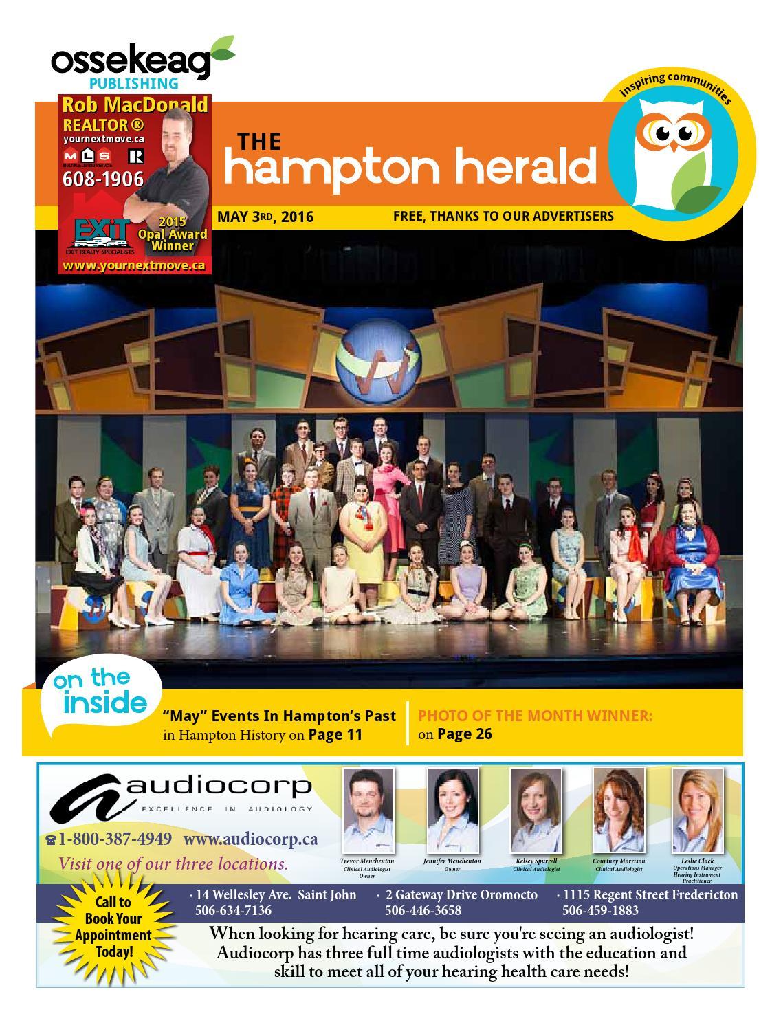 hampton herald may 3 2016 by ossekeag publishing co ltd issuu