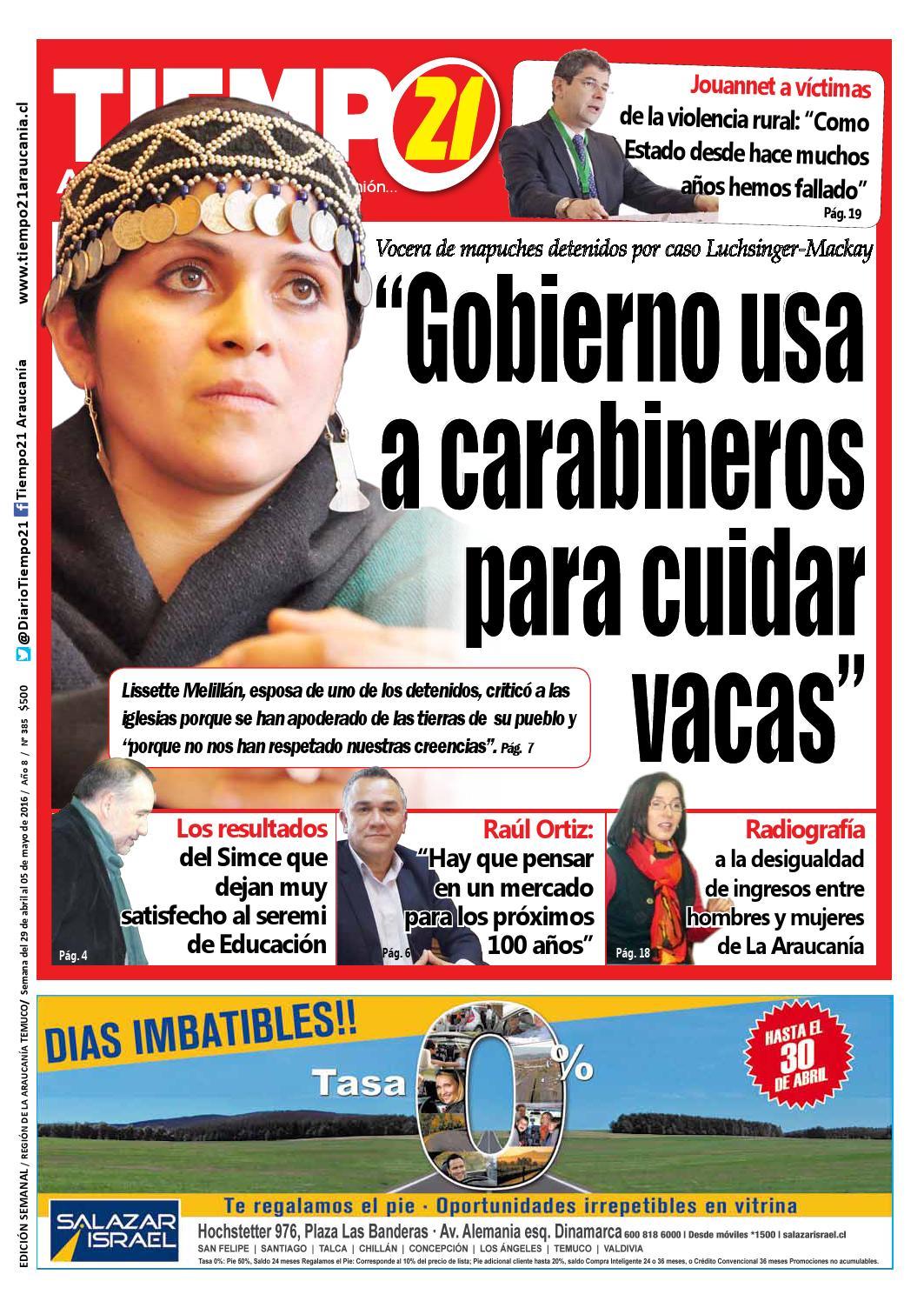 Edici N 385 Vocera De Mapuches Detenidos Gobierno Usa A  # Muebles Jouannet Temuco