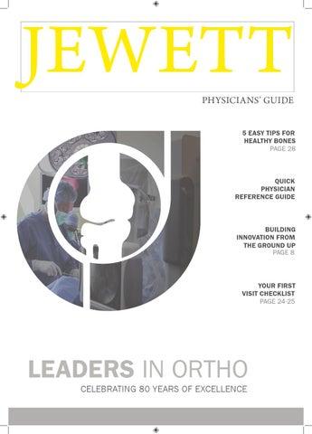 Jewett Orthopaedic Physicians Guide By Jewett Orthopaedic Issuu