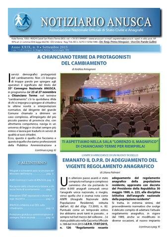 Notiziario ANUSCA 2015 - 09 Settembre by ANUSCA - issuu