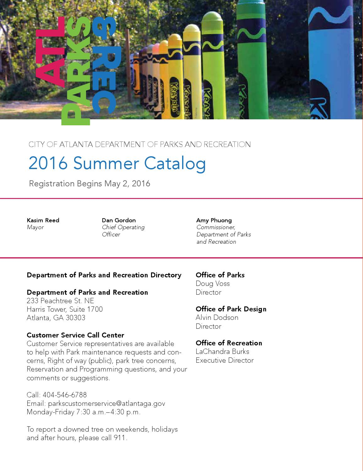 ATL Parks & Rec Catalog 2016 Catalog by Atlanta DPR - issuu