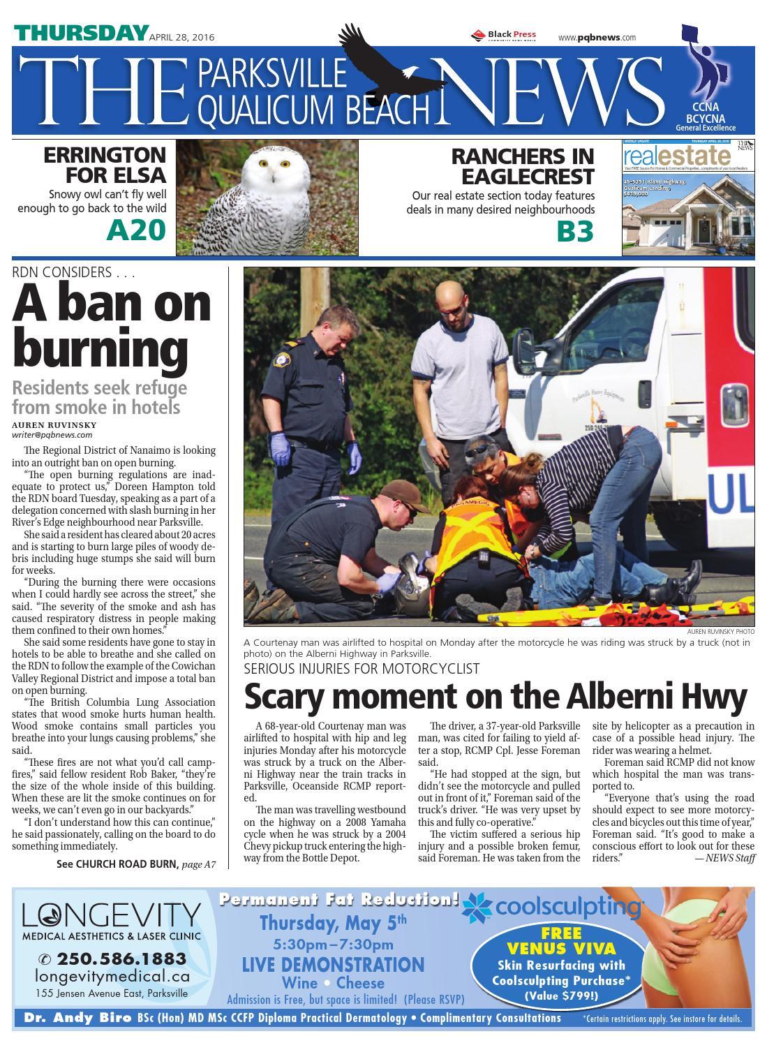Parksville Qualicum Beach News, April 28, 2016 by Black Press Media