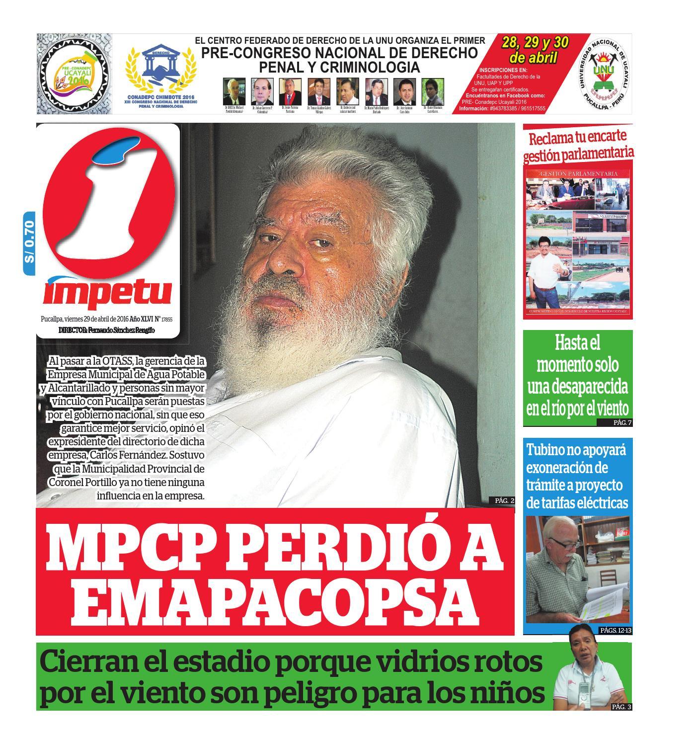 Impetu 29 de abril de 2016 by Diario Ímpetu - issuu