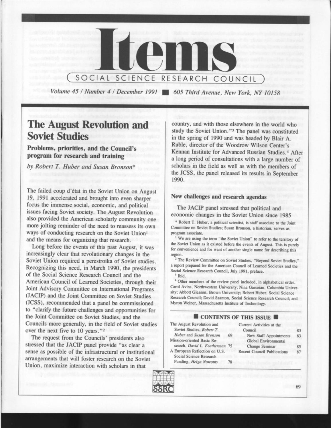Items Vol  45 No  4 (1991) by SSRC's Items & Issues - issuu