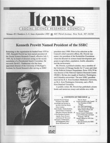 93fbd15700325a Items Vol. 49 No. 2-3 (1995) by SSRC s Items   Issues - issuu