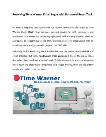 I Forgot My Time Warner Cable Email Address: Resolving time warner email login with password reset tool by Lisa rh:issuu.com,Design