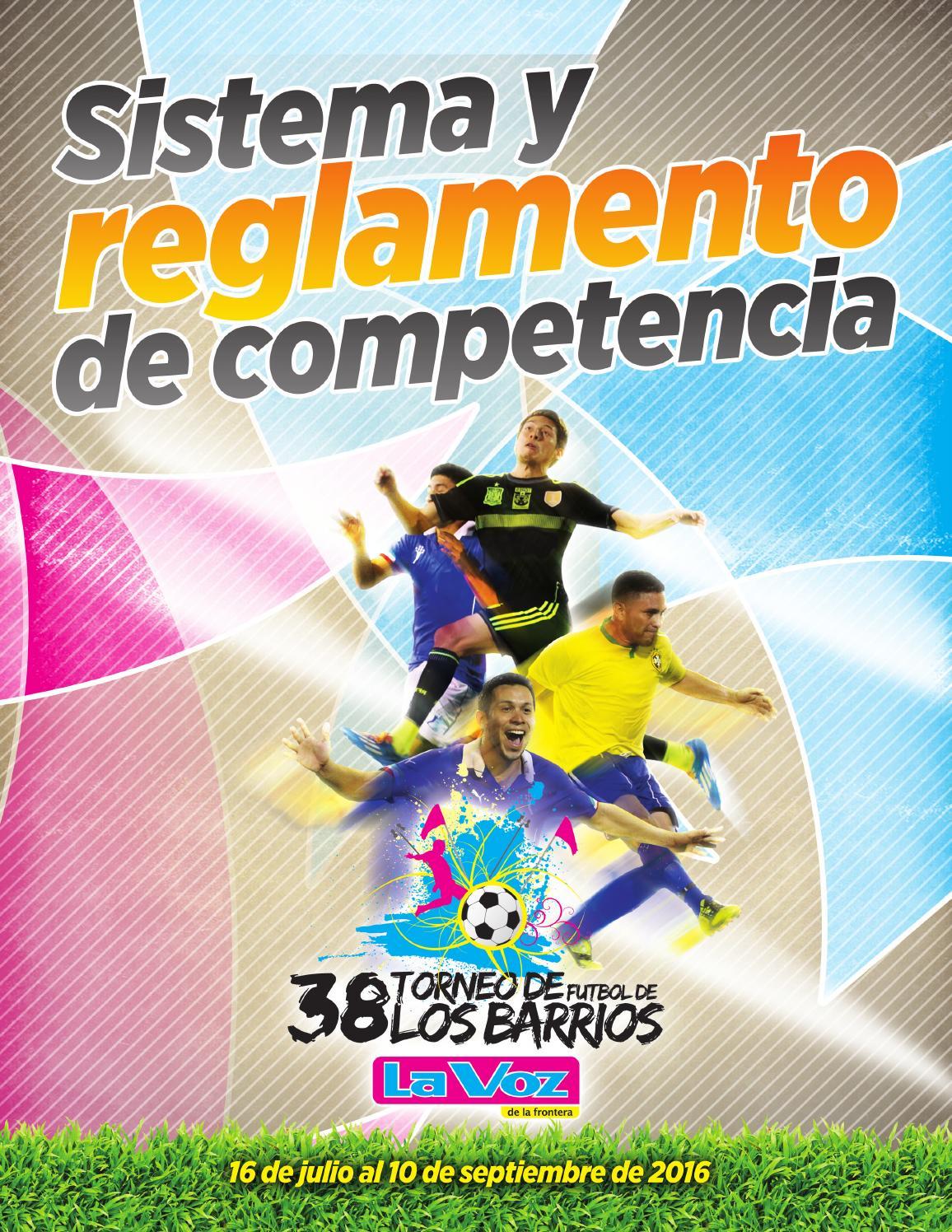 38 Juegos Deportivos Municipales Calendario.Convocatoria Y Reglamento 38 Torneo De Futbol De Los Barrios