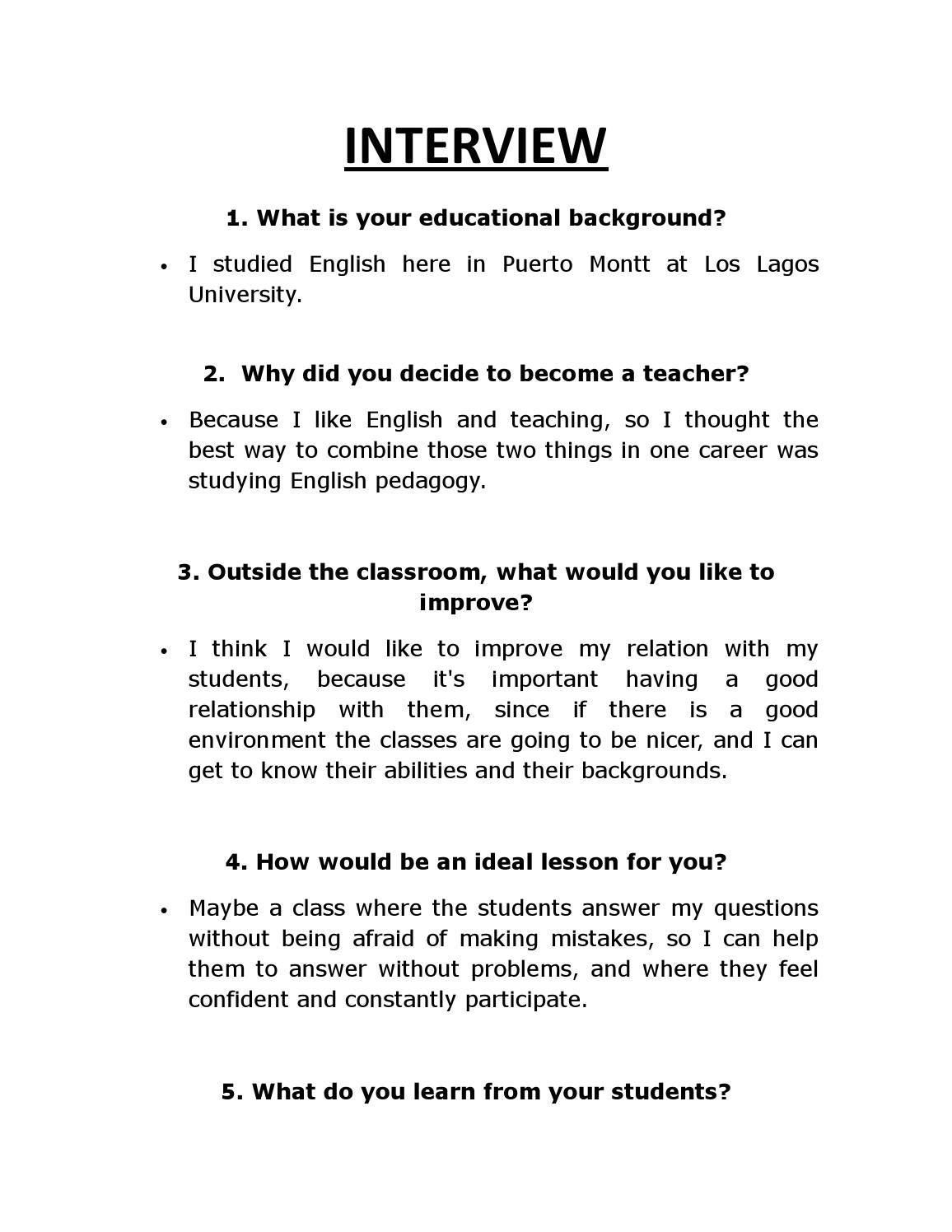 Interview by Matias Franckel Avendaño - issuu