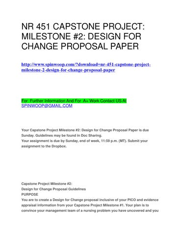capstone project milestone #2 design proposal