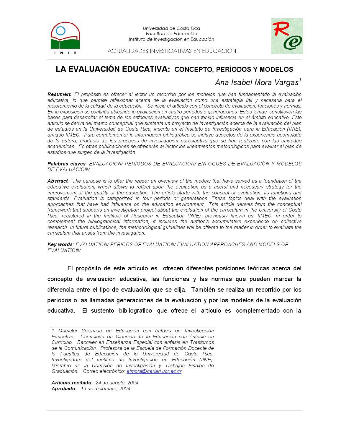 Modelos de evaluacion by tatik27 - issuu