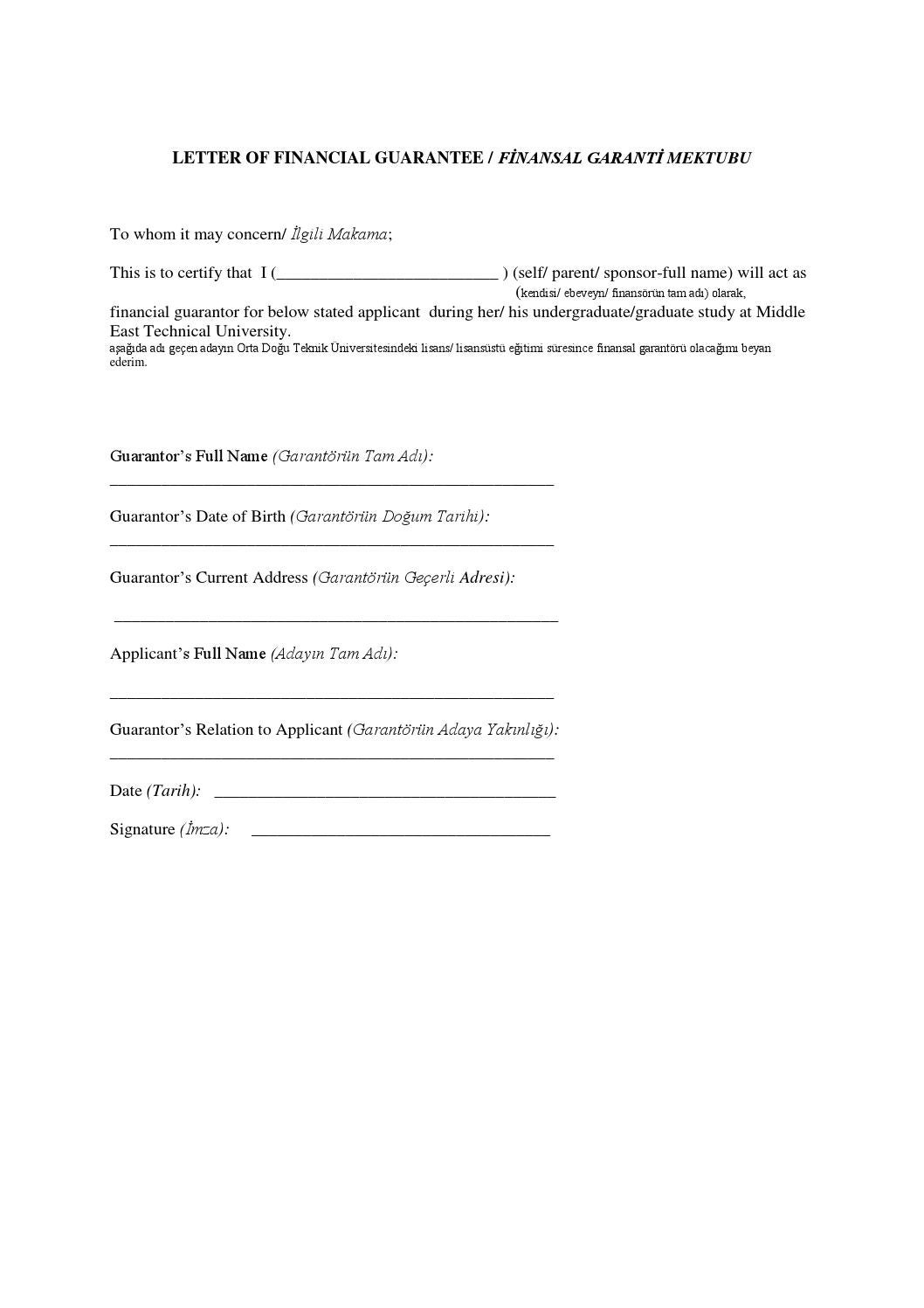 Letter of financial guarantee 2016 2017 by metu mentor issuu thecheapjerseys Image collections