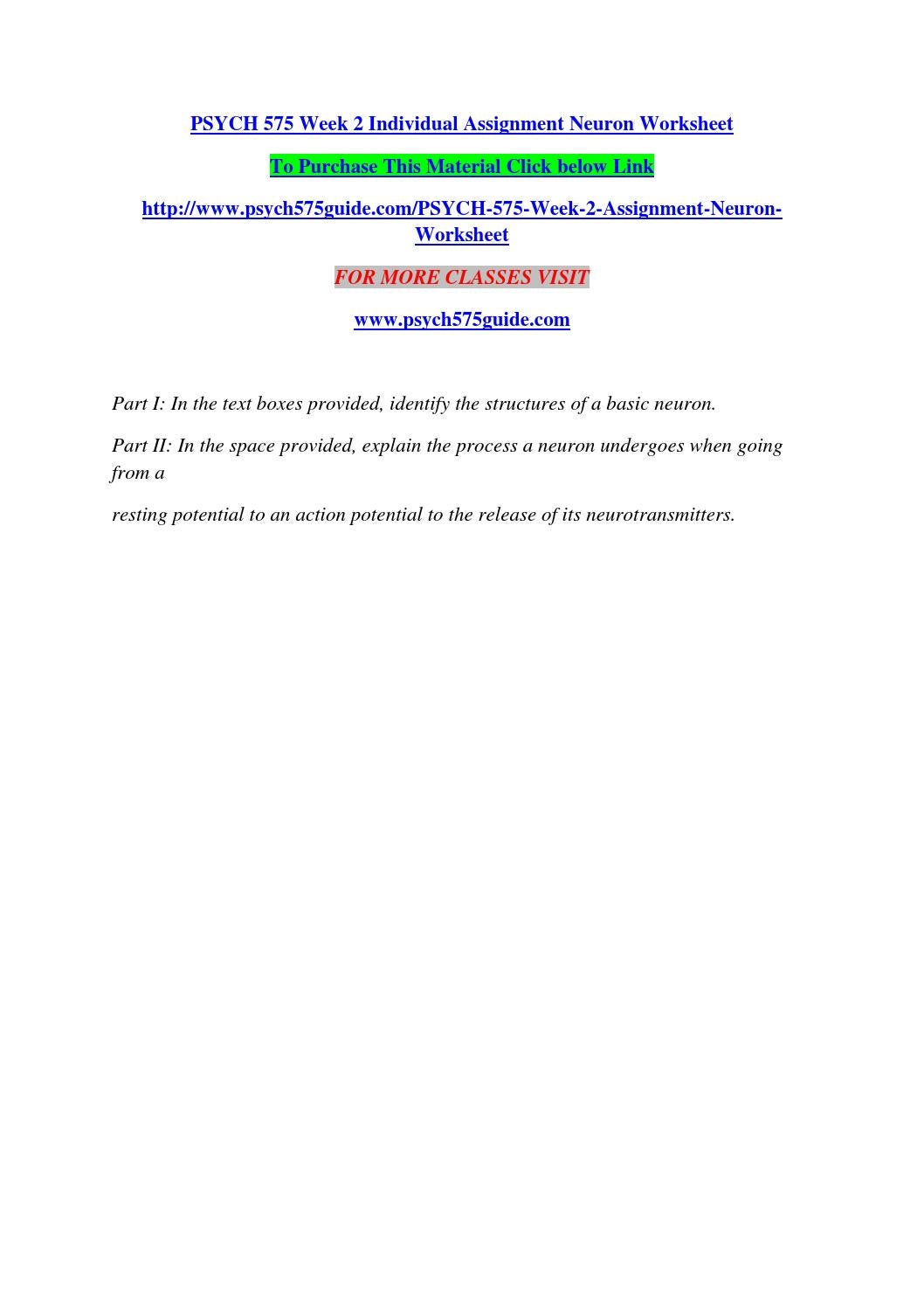 worksheet Action Potential Worksheet psych 575 week 2 individual assignment neuron worksheet by naveencrzn15 issuu