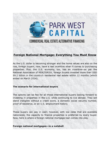 Foreign national mortgage everything you must know