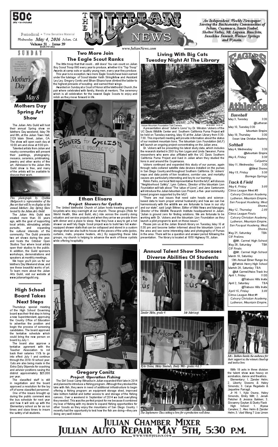 Juliannews 31 39 by Julian News - issuu