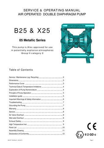 B25 x25 metallic manual by filtec depuradoras issuu page 1 service operating manual air operated double diaphragm pump ccuart Choice Image