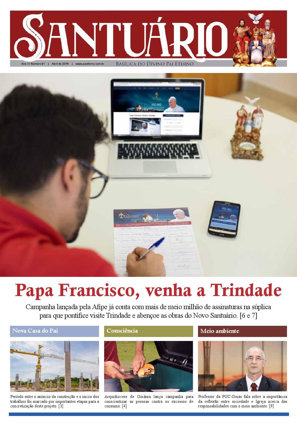 Jornal Santuario Nº 91 Abr 2016 By Santuario Basilica Do