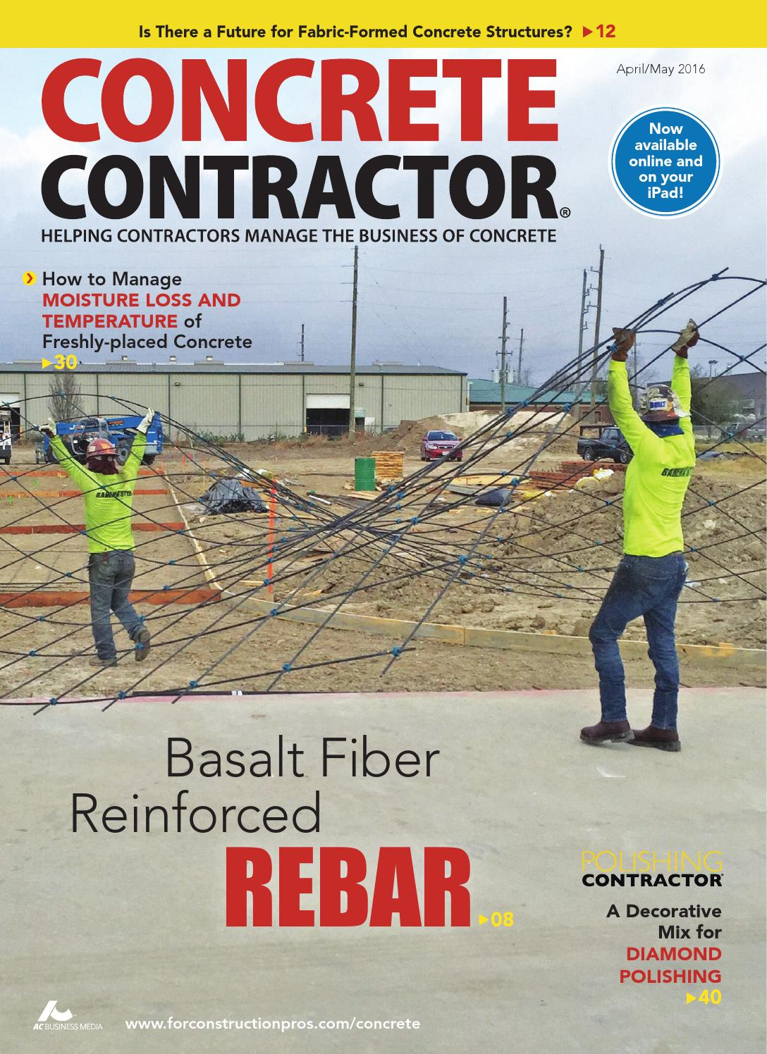 Concrete Contractor April/May 2016 by ForConstructionPros com - issuu