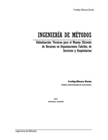 174170660 ingenieria de metodos freddy alfonso duran 2007 by ...