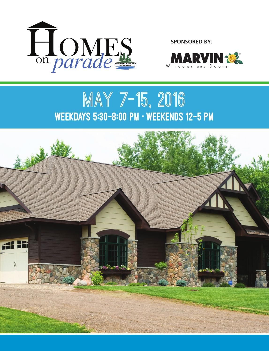 2016 homes on parade magazine by arrowhead builders association