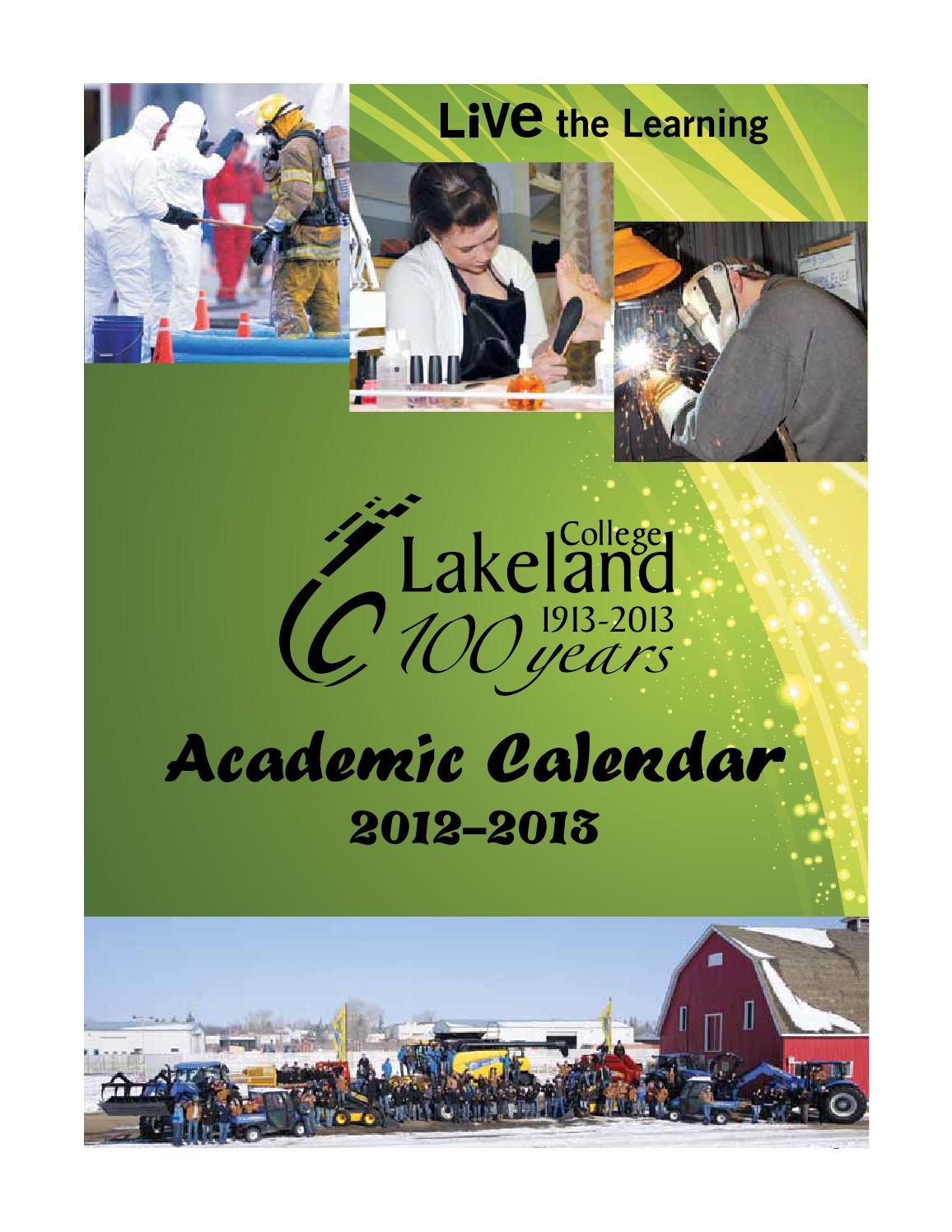 2012 -13 Lakeland College Academic Calendar by Lakeland