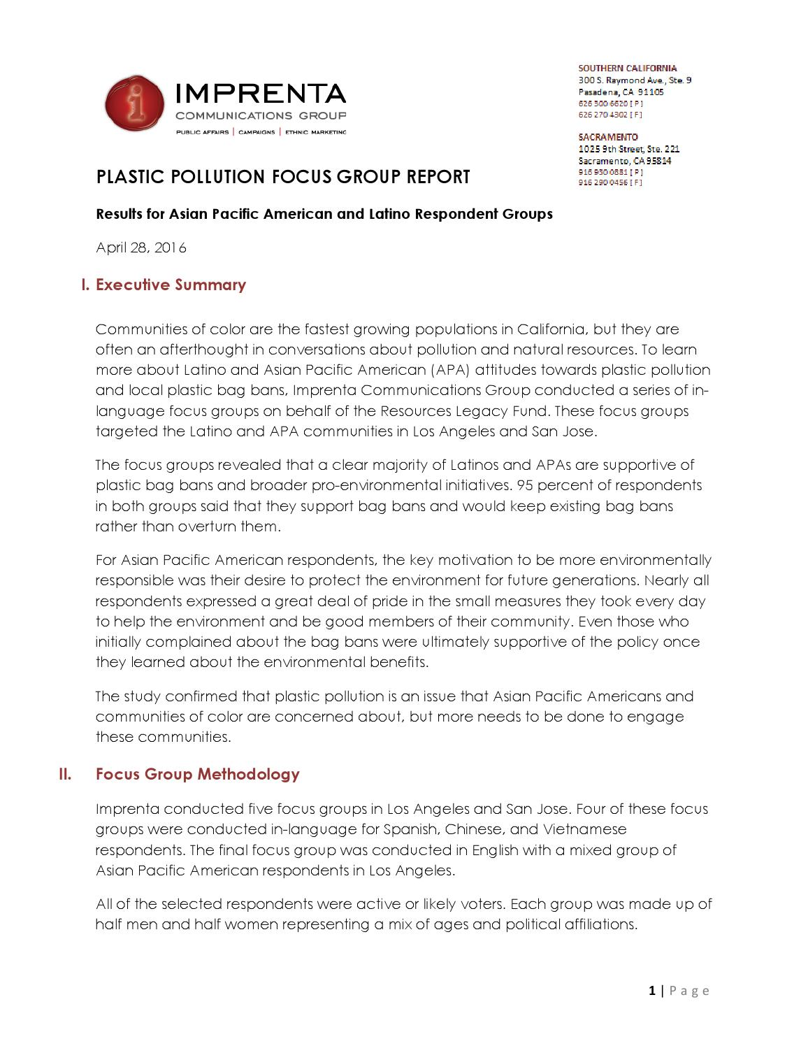 Imprenta focus group brief (english) by stopplasticbags - issuu
