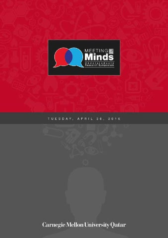 Meeting of the Minds 2016 by Carnegie Mellon University in Qatar - issuu