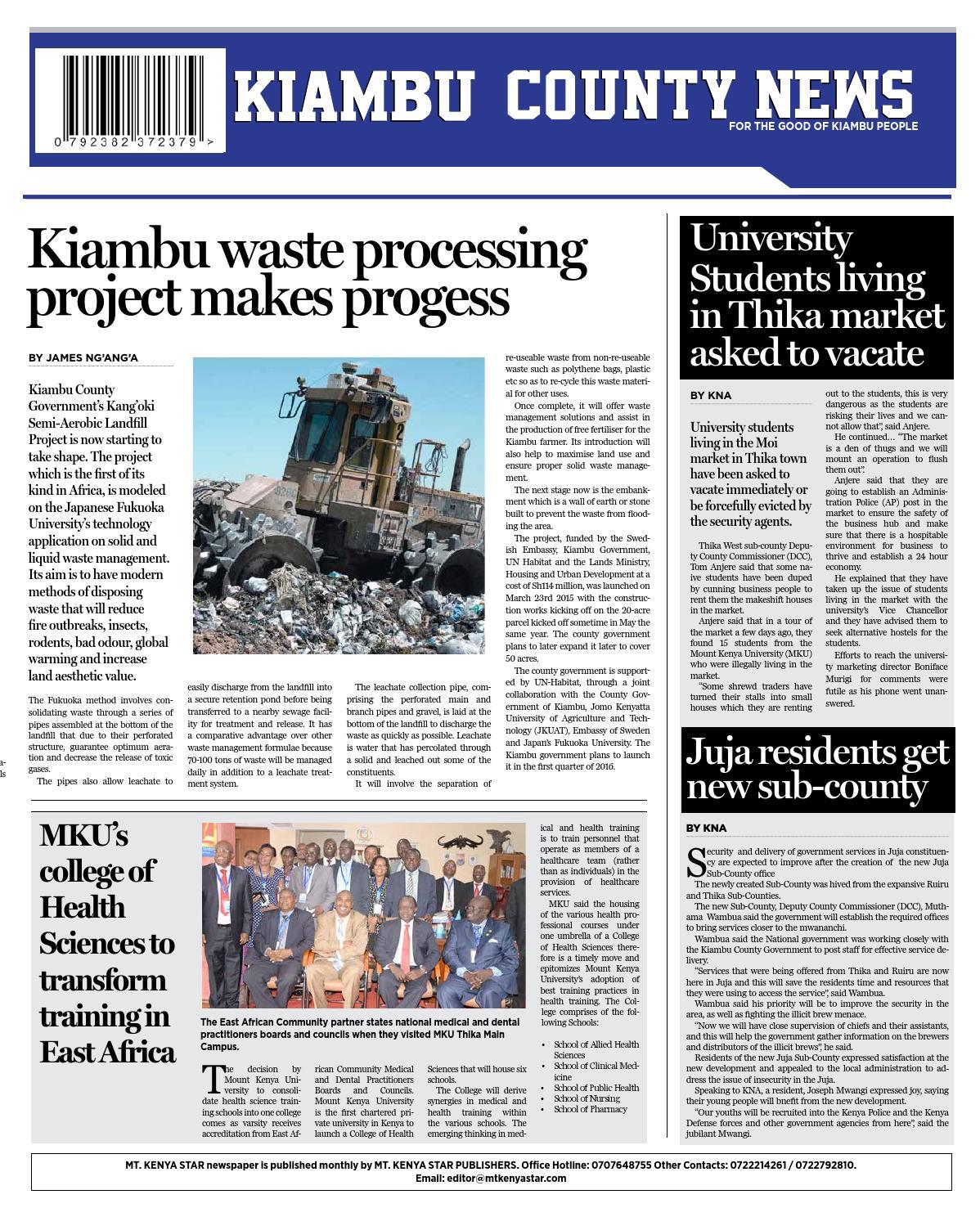 MT  KENYA STAR ISSUE 19 by MT  KENYA STAR PUBLISHERS - issuu