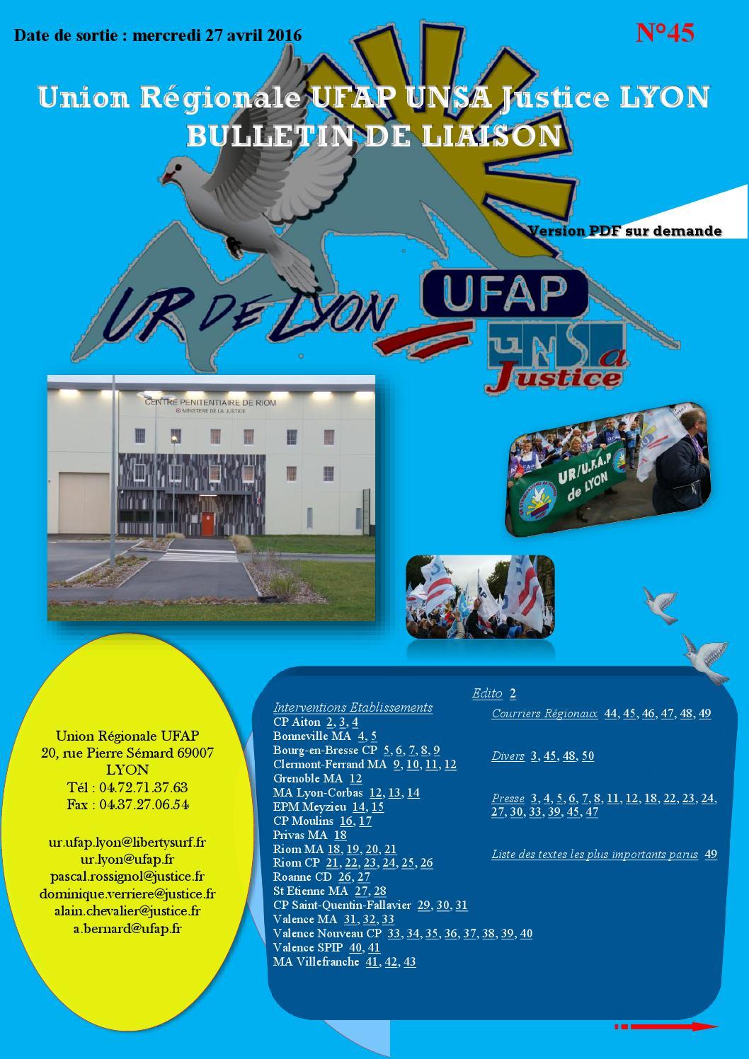 e028cfc5921 Bulletin n°45 (juillet à décembre 2015) 1  by UFAP-UNSa Justice - issuu