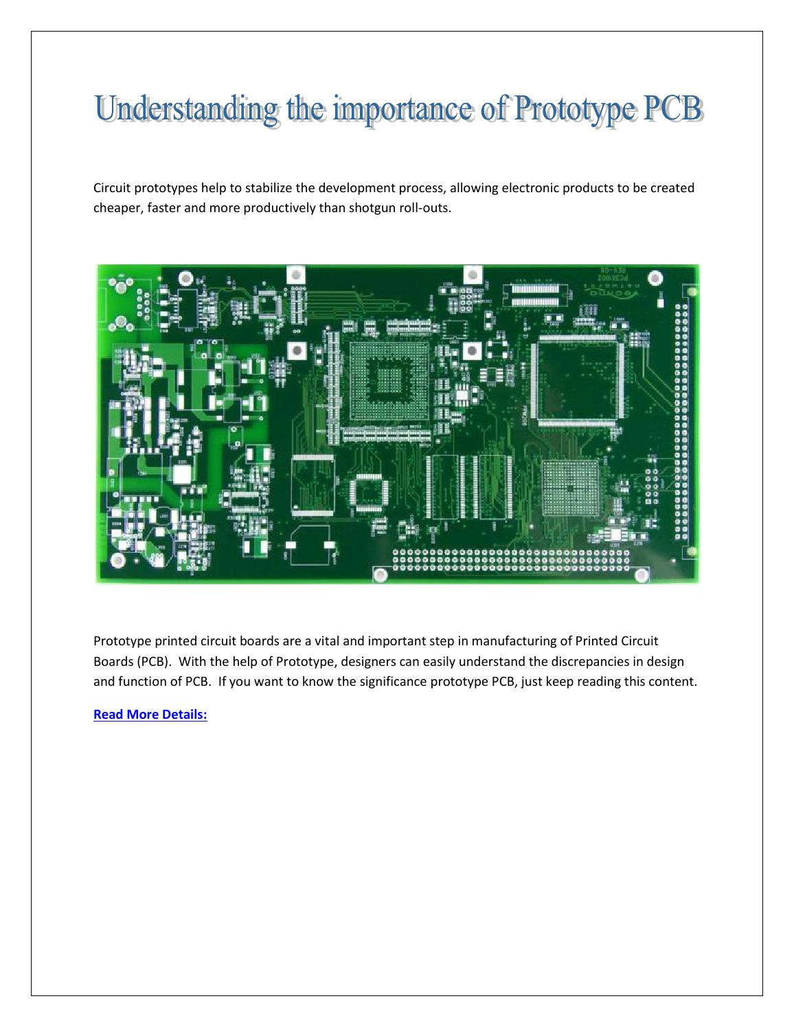 Understanding The Importance Of Prototype Pcb By High Quality Electronic Printed Circuit Board Design Manufacturer Services Issuu