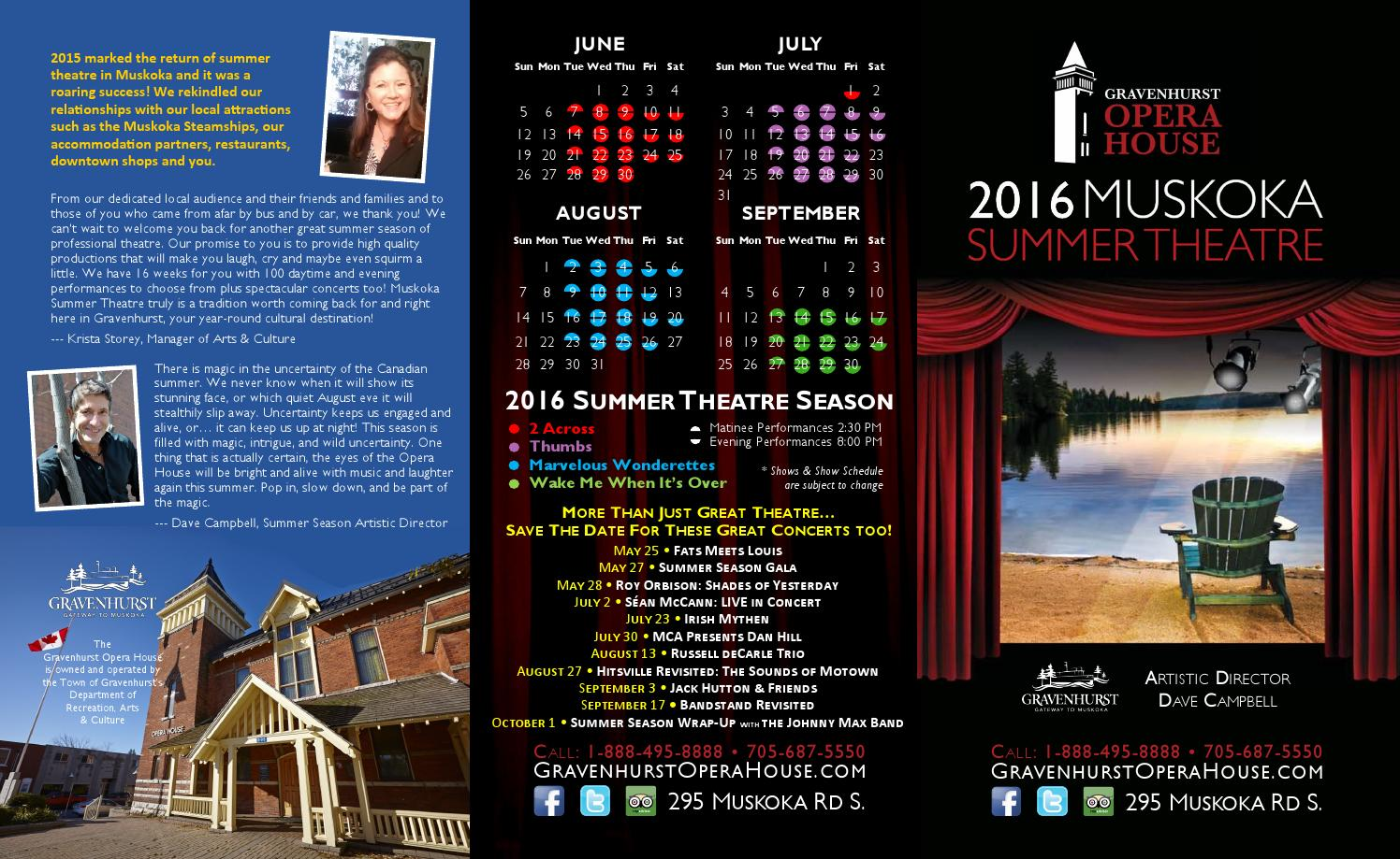 Summer 2016 Brochure by Exeter Northcott Theatre - Issuu
